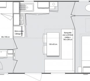 location mobil home crozon Penty plan