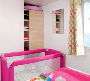 location mobil home crozon Penty chambre parents